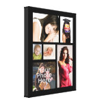 """Custom Photo Collage Wrapped Canvas, 1.5"""" Depth Gallery Wrap Canvas"""