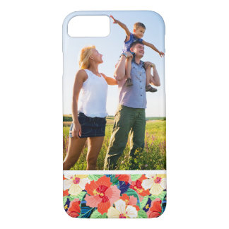 Custom Photo Colorful Hibiscus Pattern iPhone 8/7 Case