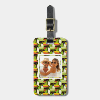Custom Photo Colorful Toucans Luggage Tag