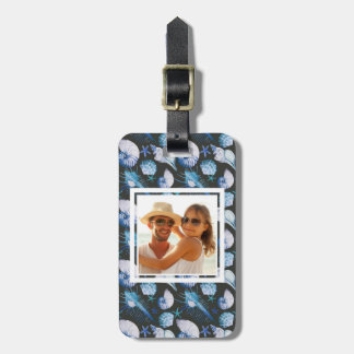 Custom Photo Corals With Shells Pattern Luggage Tag