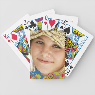 Custom Photo Create Your Own Retro 70s Flowers Bicycle Playing Cards