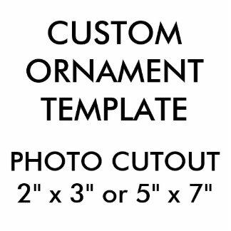 Custom Photo Cutout Christmas Ornament Template