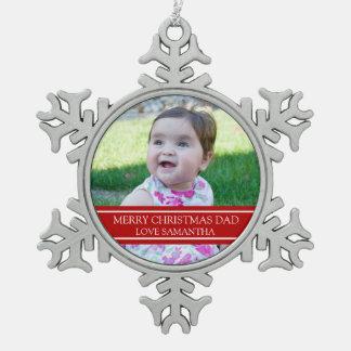 Custom Photo Dad Christmas Ornament