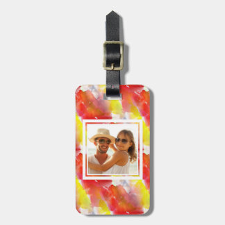 Custom Photo Design texture watercolor background Luggage Tag