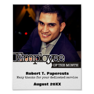 employee of the month posters prints zazzle uk