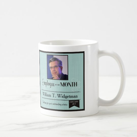 Custom photo employee of the month incentive mug