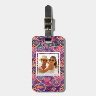 Custom Photo Ethnic Style Animal Pattern Luggage Tag