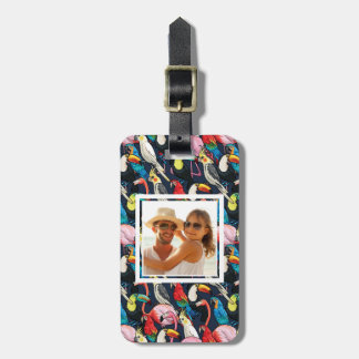 Custom Photo Exotic birds Luggage Tag