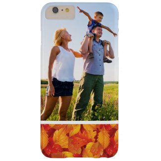 Custom Photo Fallen wet leaves background Barely There iPhone 6 Plus Case