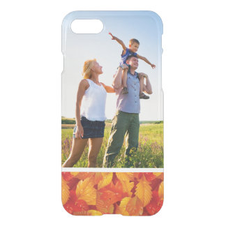 Custom Photo Fallen wet leaves background iPhone 8/7 Case