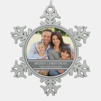 Custom Photo Family Christmas Ornament