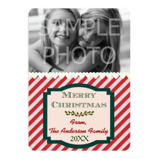 Custom Photo Family Name & Year 5x7 13 Cm X 18 Cm Invitation Card