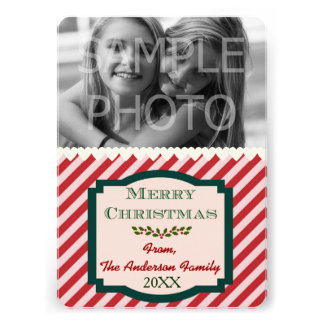 Custom Photo Family Name & Year 5x7 Personalized Invites