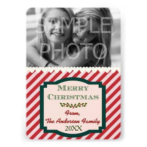 Custom Photo Family Name & Year 5x7 Personalized Invites