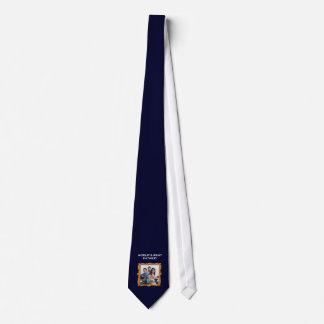 Custom Photo Fathers Day Ties, Blue Tie