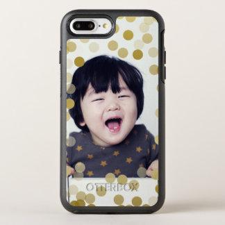 Custom Photo & Faux Gold Confetti OtterBox Symmetry iPhone 8 Plus/7 Plus Case