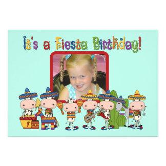 Custom Photo Fiesta Birthday Invitation