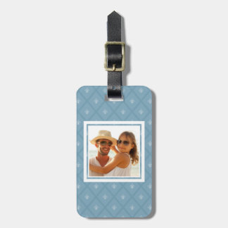 Custom Photo Fleur-de-lis pattern Luggage Tag