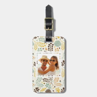 Custom Photo Floral Butterfly Pattern Luggage Tag
