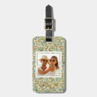 Custom Photo Floral flowers and butterflies Luggage Tag