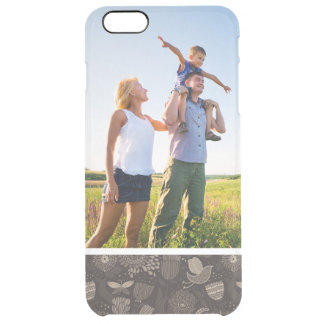 Custom Photo Floral pattern with cartoon birds 2 Clear iPhone 6 Plus Case