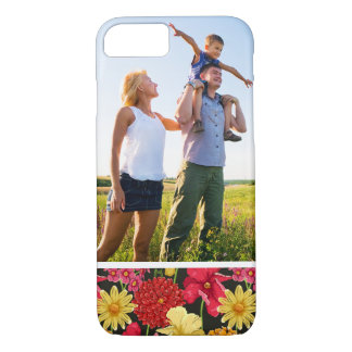 Custom Photo Floral wallpaper in watercolor style iPhone 8/7 Case