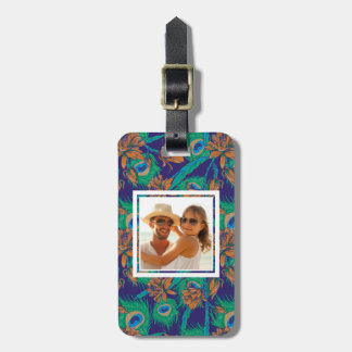 Custom Photo Flowers And Feathers Luggage Tag