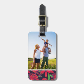 Custom Photo Flowers And Hummingbirds Luggage Tag
