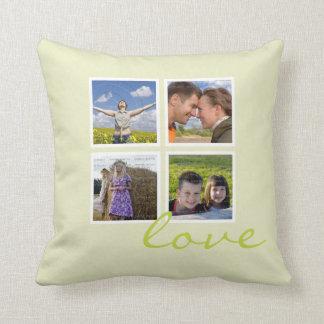 Custom Photo Frame Throw Pillows Collage | Love