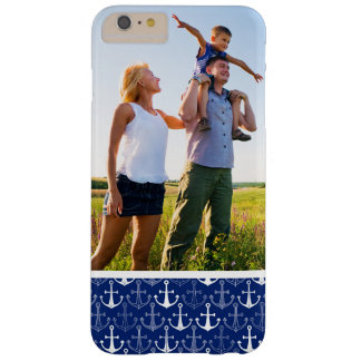 Custom Photo Fun Anchor Pattern Barely There iPhone 6 Plus Case