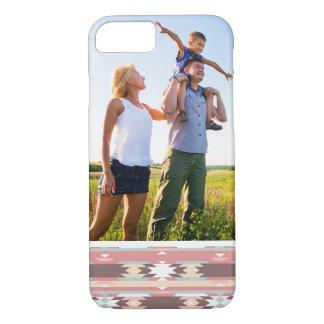 Custom Photo Geometric pattern in aztec style 2 iPhone 8/7 Case