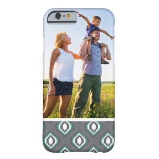 Custom Photo Geometric retro ikat tribal pattern Barely There iPhone 6 Case