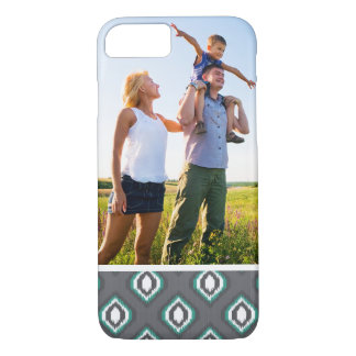 Custom Photo Geometric retro ikat tribal pattern iPhone 8/7 Case