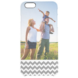 Custom Photo Geometric zigzag pattern Clear iPhone 6 Plus Case