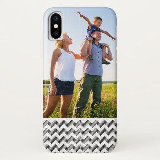 Custom Photo Geometric zigzag pattern iPhone X Case