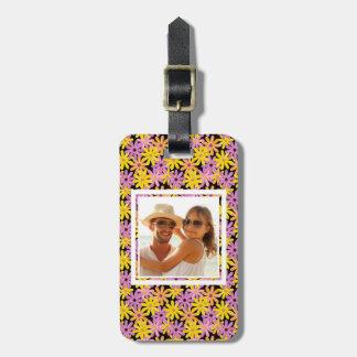 Custom Photo Gerbera flowers pattern, background Luggage Tag