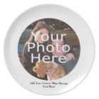 Custom Photo Gift Plate with Message