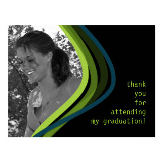 Custom Photo Graduation Thank You Card Postcard