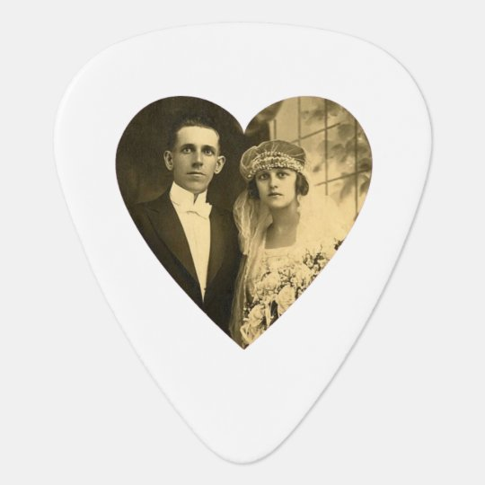 Custom Photo Heart (White) Plectrum