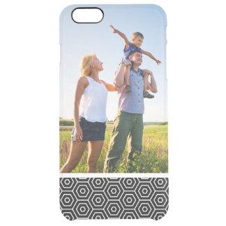 Custom Photo Hexagons texture geometric pattern Clear iPhone 6 Plus Case