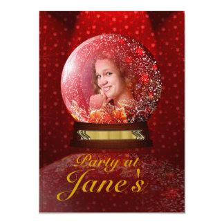 Custom photo inside crystal globe invitations