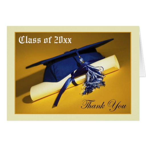 Custom Photo (inside) Graduation Thank-You Card 03