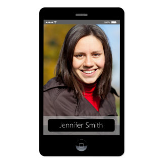 Custom Photo - iPhone iOS Style Pack Of Standard Business Cards