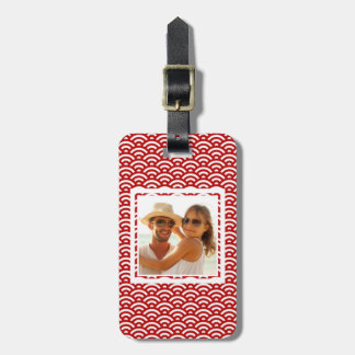 Custom Photo Japanese pattern Luggage Tag