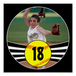 Custom Photo & Jersey Number Fastpitch Softball