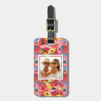 Custom Photo Jungle Frogs Luggage Tag