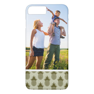 Custom Photo Khaki Pineapple Pattern iPhone 8 Plus/7 Plus Case