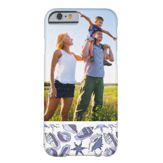 Custom Photo Lavendar Seashells Barely There iPhone 6 Case