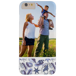 Custom Photo Lavendar Seashells Barely There iPhone 6 Plus Case