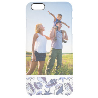 Custom Photo Lavendar Seashells Clear iPhone 6 Plus Case